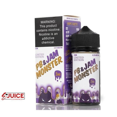 PB & Jam Grape - Jam Monster 100ml - E-Liquids | E-juice Clearance