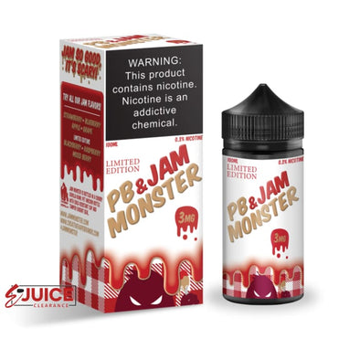 PB & Jam Strawberry - Jam Monster 100ml - E-Liquids | E-juice Clearance