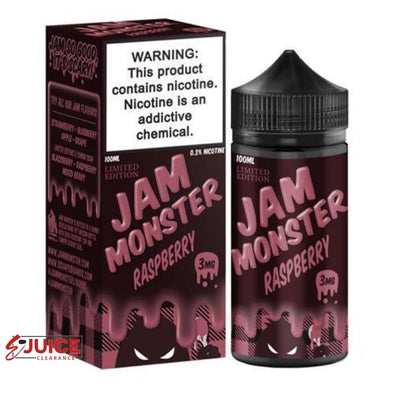 Raspberry - Jam Monster 100ml - E-Liquids | E-juice Clearance