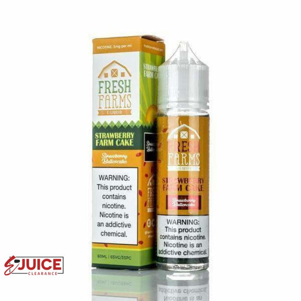 Strawberry Farm Cake - Fresh Farms E-Liquid 60ml - E-Liquids | E-juice Clearance