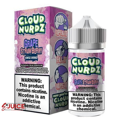 Strawberry Grape - Cloud Nurdz 100ml - E-Liquids | E-juice Clearance