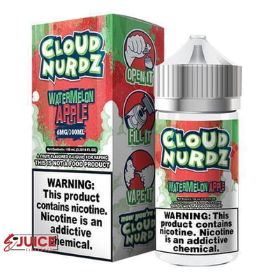 Watermelon Apple - Cloud Nurdz 100ml - E-Liquids | E-juice Clearance