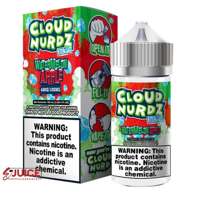 Watermelon Apple Iced - Cloud Nurdz 100ml - E-Liquids | E-juice Clearance