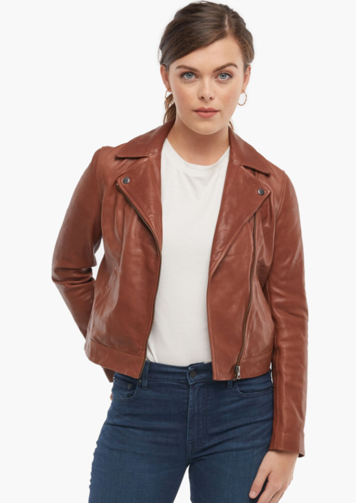 major MaHA! leather jacket brown