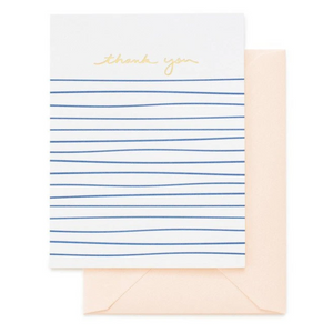 Blue Stripe Thank You Card