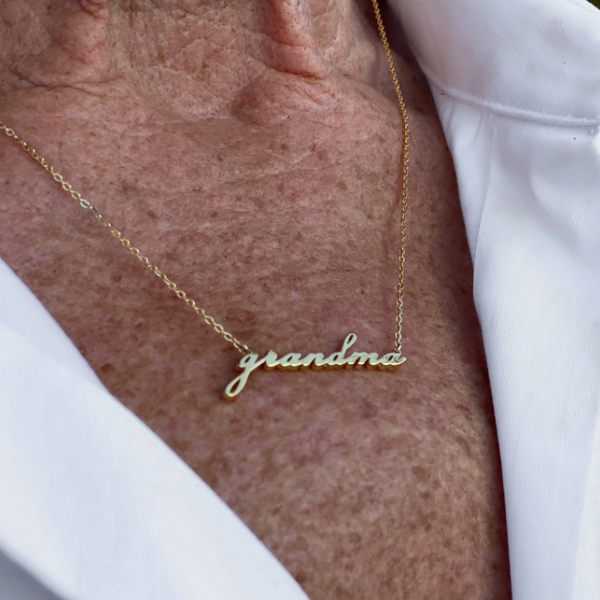 Grandma Script Necklace