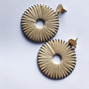 Raffia Pinwheel Earrings
