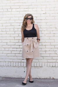 Khaki Trouser Skirt