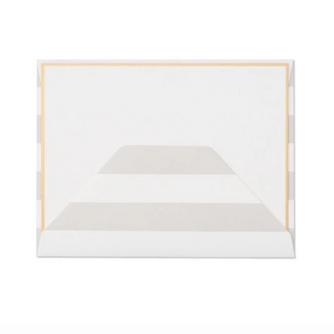Grey Stripe Envelope Card Set