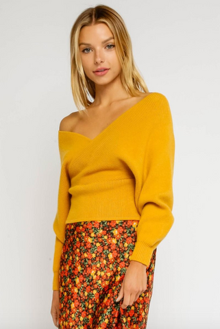 Mustard Off the Shoulder Sweater