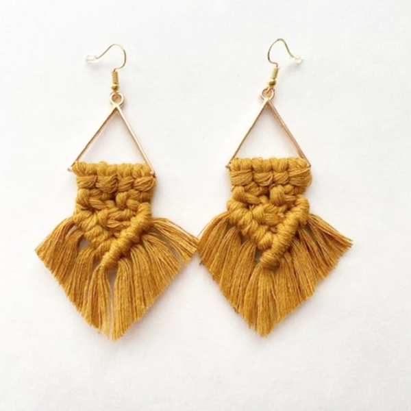macrame dream earrings
