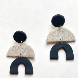 clay makers earrings black