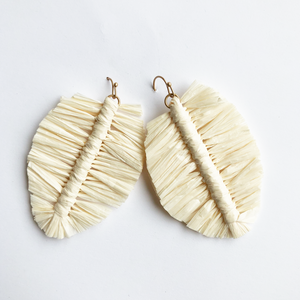Raffia Leaves Earrings