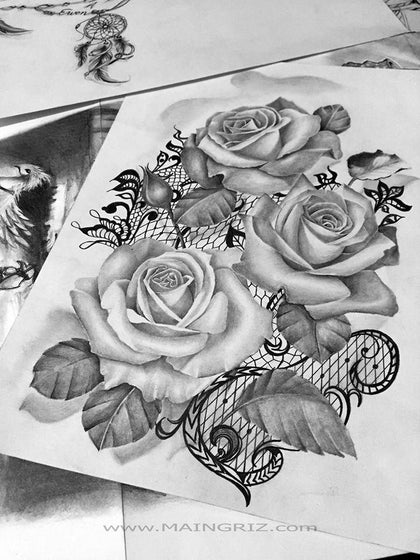 flowers tattoo design references