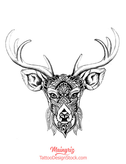 Selection of deers tattoo design references