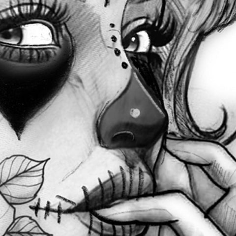hundreads catrina tattoo design in high quality digital download