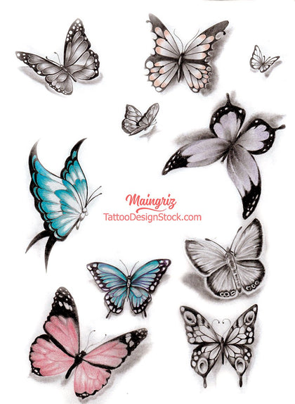 butterfly tattoo design references