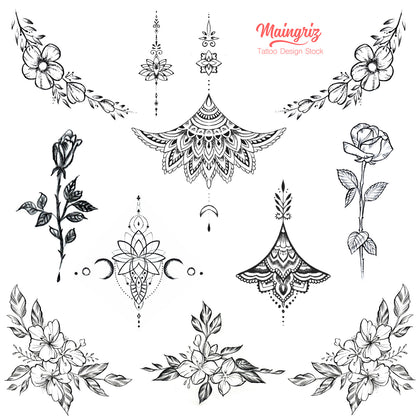 thousands quality tattoo design references in stock
