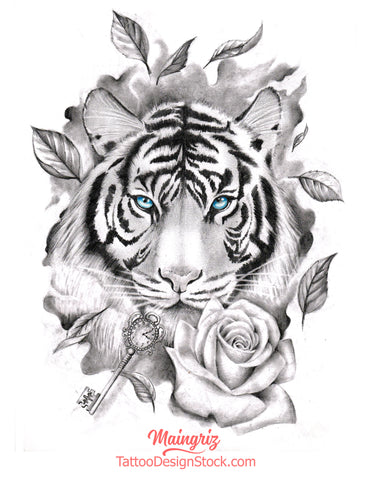 selection of tigers tattoo design high resolution download