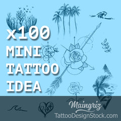 100 Mini Tattoo design Idea ebook