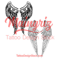 2 x realistic wing temporary tattoos by maaingriz