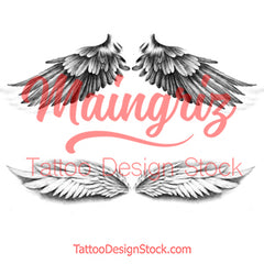 2 x sexy wing temporary tattoos by maingriz