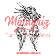 2 x realistic wing temporary tattoos by maingriz