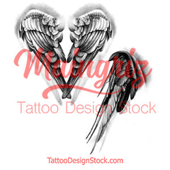 2 x realistic sexy wing temporary tattoos by maingriz