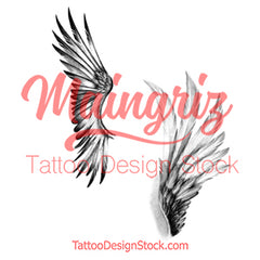 2 x sexy realistic wing temporary tattoos by maingriz