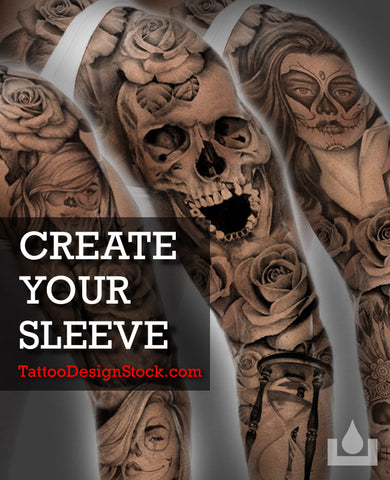 create your  amazing custom sleeve tattoo design online