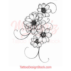 Flowers for arms Tattoo design