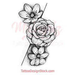 Flowers for arms Tatto Design