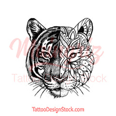 Mandala Tiger tattoo design references