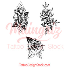 3 x Realistic roses temporary tattoos by maingriz
