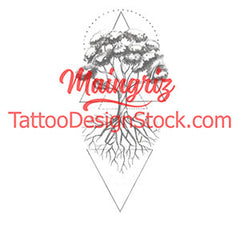 geometric tree of life tattoo design