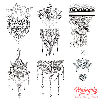 6 amazing mandala download tattoo design digital download reference
