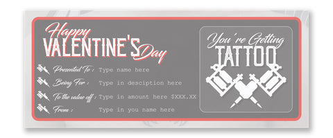 Happy valentine's day Tattoo Gift Vouchers instant download