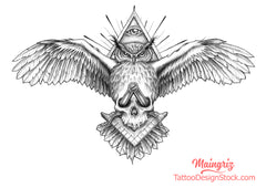 owl for chest tattoo design high quality