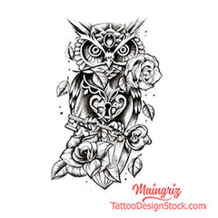 original owl tattoo design