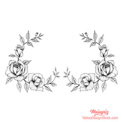 2 roses sideboob tattoo design digital download by tattoo artist
