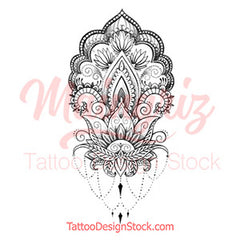 wrist oriental mandala tattoo design references created by tattooists