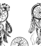 3 x Realistic sexy dreamcatchers temporary tattoos