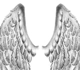 2 x realistic wing temporary tattoos