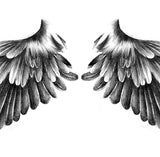 2 x sexy wing temporary tattoos