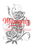 3 sexy realistic roses download tattoo design
