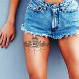 3 x lace garter temporary tattoos