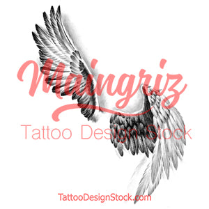 2 x realistic sexy wing temporary tattoos