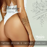 5 x sexy Peony half sleeve design download high resolution download