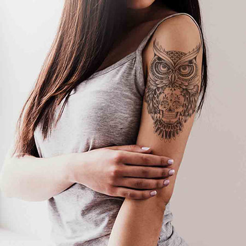 5 Owls temporary tattoos