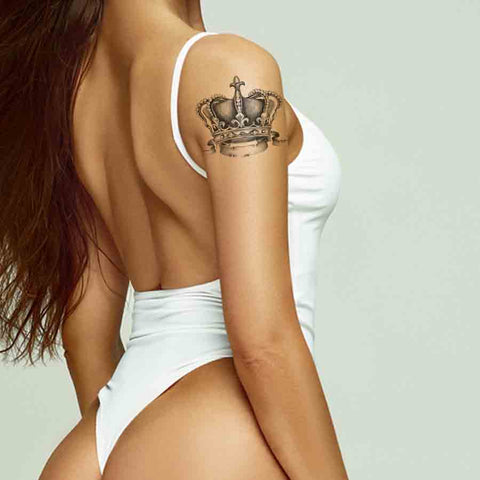 Crown temporary tattoo